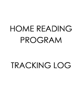 Home Reading Program - Tracking Log