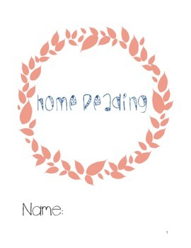 Home Reading Program and Log