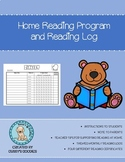 Home Reading Program and Reading Log