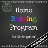 Home Reading Program for Kindergarten FDK - Editable