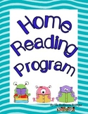 Home Reading Program template