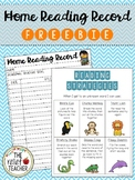 Home Reading Record with Reading Strategies FREEBIE