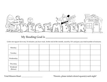 Home Reading Record/Tracking Graph