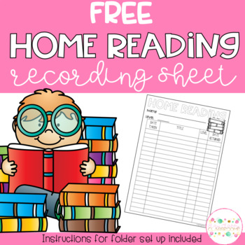 Home Reading Recording Sheet