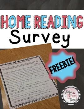 Home Reading Survey (Parent Survey)