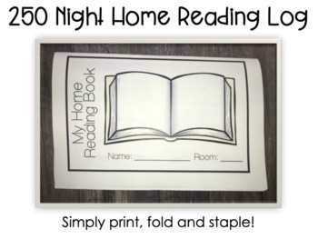 Home Reading Log for the Full Year  {including parental feedback}