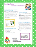 Home Reading- parent cheat sheet