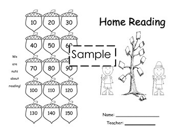Home Reading Log with Camping Cover