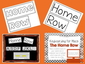 Home Row - Keyboarding Posters for Macs
