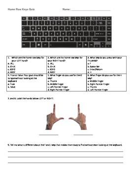 Home Row Keys Quiz