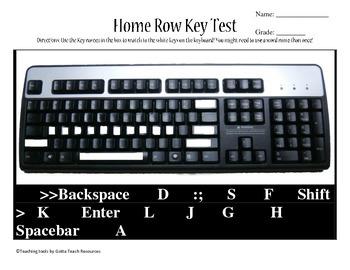 Home Row Keys Test
