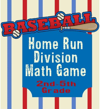Home Run Division Math Game for 2nd-5th Graders