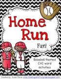 Home Run Fun! {CVC word activities}