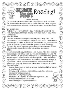 Home-Run Reading! A Complete Reading Motivation Program!