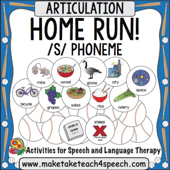 /S/ Phoneme - Home Run!