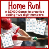 Two Digit Addition Baseball Themed BINGO Game