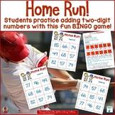Two Digit Addition Baseball Themed BINGO Game