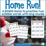 Two Syllable Words: Baseball Themed BINGO Game