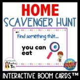 Home Scavenger Hunt Ice Breaker Boom Cards Distance learning