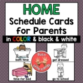 Home Schedule Cards for Parents