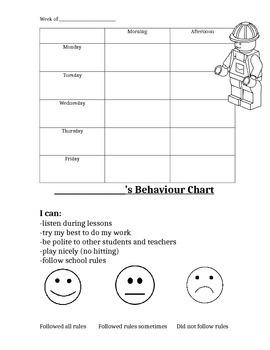 Home-School Behaviour Chart