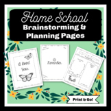 Home School Brainstorming and Planning Pages