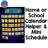 Home School Calendar Pieces & Mini Schedule