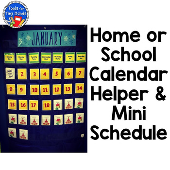 Home School Calendar Pieces & Mini Schedule