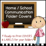 Home / School Communication Folder COVERS
