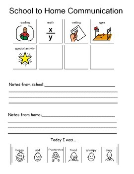 Home-School Communication Form