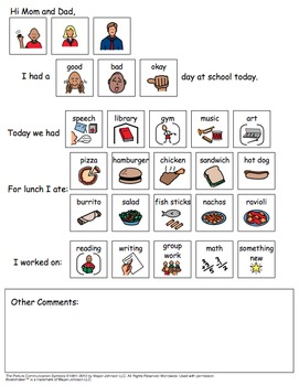 Home School Communication Packet
