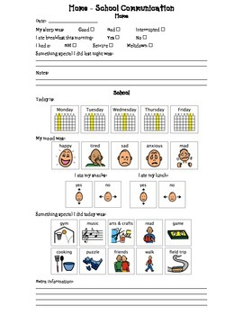 Home-School Communication Page