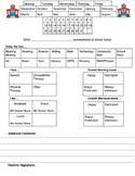 Home School Communication Sheet