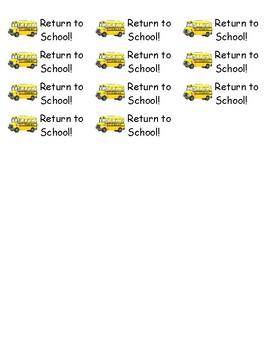 Home - School Folder Labels