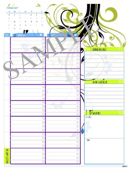 2017-2018 Home School Monthly Planner