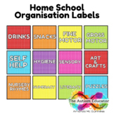 Home School Organisation Labels -  Free