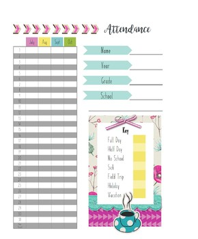 Home School Planner and 2017-2018 Record Book (Aromatherapy)