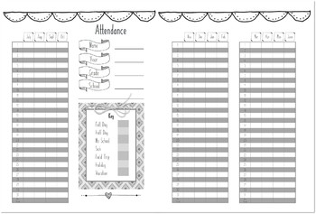Home School Planner and 2017-2018 Record Book (Doodle)