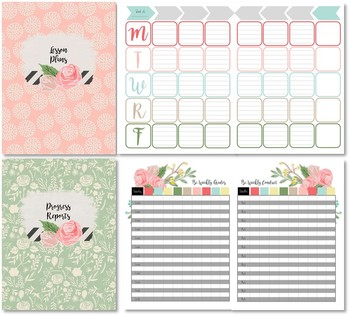 Home School Planner and 2017-2018 Record Book (Roses in Bloom)