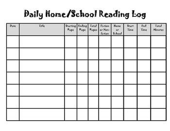 Home-School Reading Log