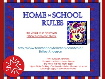 Home-School Rules for Pocket Chart