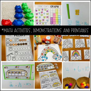 Home School Ideas for Kindergarten Season's and Spring Distance Learning Week 1