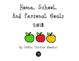 Home, School, and Personal Goals-FREE
