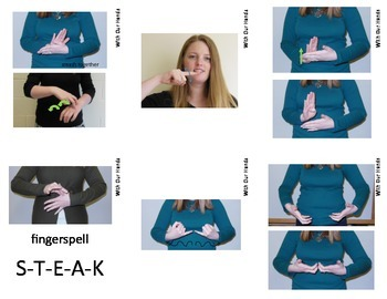 Home Series: Dinner Sign Language (ASL) Vocabulary Cards