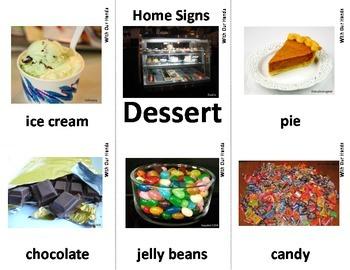 Home Series: Dessert Sign Language (ASL) Vocabulary Cards