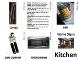 Home Series: Kitchen   Sign Language (ASL) Vocabulary Cards