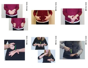 Home Series: Kitchen Utensils Sign Language (ASL) Vocabulary Cards