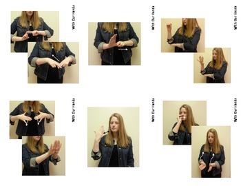 Home Series: Living Room Sign Language (ASL) Vocabulary Cards
