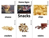 Home Series: Snacks Sign Language (ASL) Vocabulary Cards