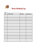 Home Student/Parent Reading Log
